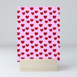 Mini hearts pattern Mini Art Print
