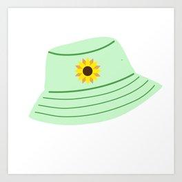 Sunflower Bucket Hat Art Print