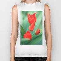 tulips Biker Tanks featuring tulips by Falko Follert Art-FF77
