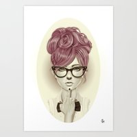sexy Art Prints featuring Fu*k U by Giulio Rossi