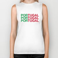 portugal Biker Tanks featuring PORTUGAL by eyesblau