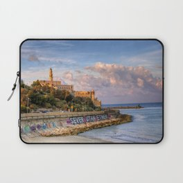Graffiti on the old city wall of Jaffa, Israel Laptop Sleeve