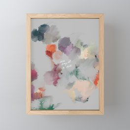One Day At A Time Framed Mini Art Print