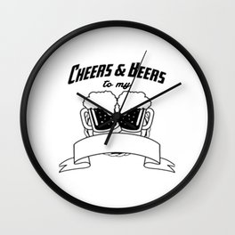 Cheers And Beers Wall Clock