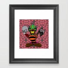 THE EVIL CLOWN Framed Art Print