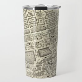 Vintage Map of Edinburgh Scotland (1844) Travel Mug
