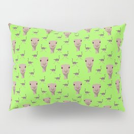 Ostriches in Lime Pillow Sham