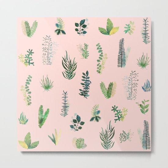 pink natural pattern Metal Print