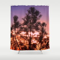 paradise Shower Curtains featuring Paradise by Mary Spinney