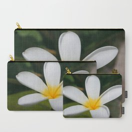 A Single Plumeria Flower Macro  Carry-All Pouch