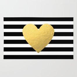 Gold Heart Rug