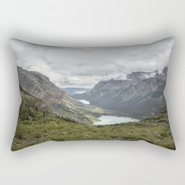 Three Lakes Viewed from Grinnell Glacier Rectangular Pillow