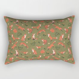 Fox Pattern (large) Rectangular Pillow