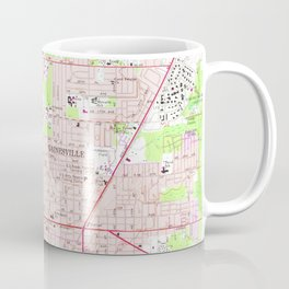 Vintage Map of Gainesville Florida (1966) Coffee Mug
