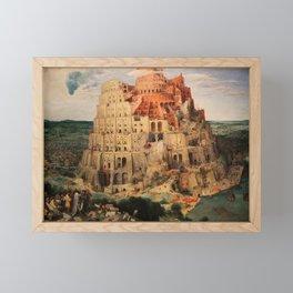 The Tower of Babel by Pieter Bruegel the Elder Framed Mini Art Print