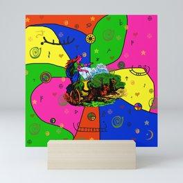 Godess Freya Popart Mini Art Print