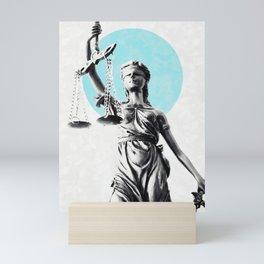 Lady of justice Mini Art Print