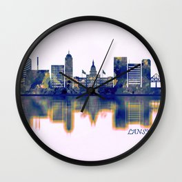 Lansing Skyline Wall Clock