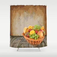 fruit Shower Curtains featuring fruit by Shea33