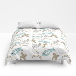 I love Jesus pattern Comforters