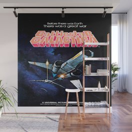 Vintage Battlestar Galactica Wall Mural