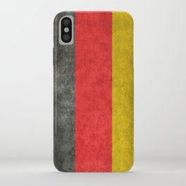 German flag, grungy textures iPhone Case