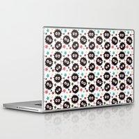 hayao miyazaki Laptop & iPad Skins featuring Hayao Miyazaki's Susuwatari by Jana Garin