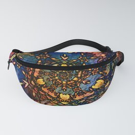 Floral swirl with bold colors Fanny Pack