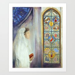 "Odilon Redon ""Portrait of Simone Fayet in Holy Communion"" Art Print"
