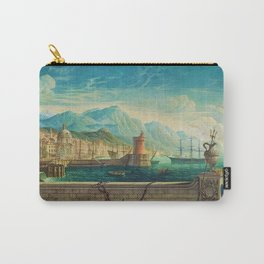 Capriccio of a Mediterranean Seaport Landscape No. 1 by Rex Whistler Carry-All Pouch