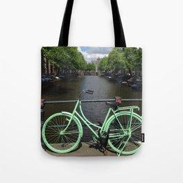 Amsterdam Green Bike - Greg Katz Tote Bag