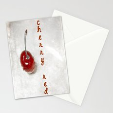 Cherry Red Stationery Cards