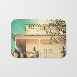 Colourful Summer Old House (Retro and Vintage Urban, architecture photography) Bath Mat