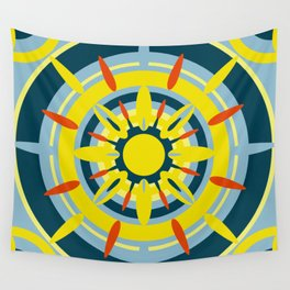 Yellow Sicily Wall Tapestry