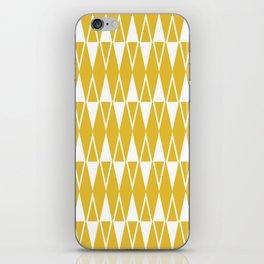Mid Century Modern Diamond Pattern Mustard Yellow 234 iPhone Skin