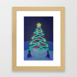 Bright December Night Framed Art Print