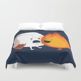 Friendly Fire Duvet Cover