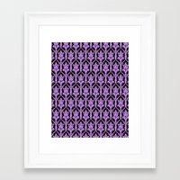 221b Framed Art Prints featuring 221b Wallpaper by rogueleader