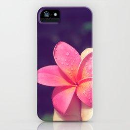 pua melia pink tropical plumeria hawaii iPhone Case