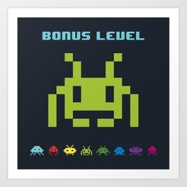Space Invader VI Art Print