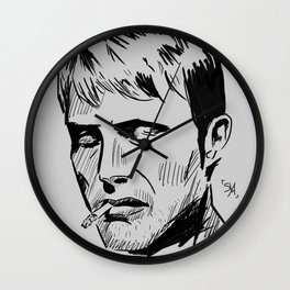 Smoking - Mads Mikkelsen Wall Clock