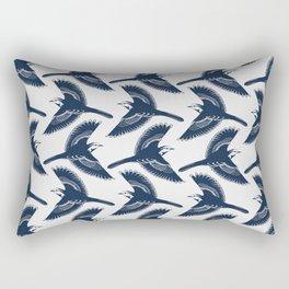 White Wagtails Pattern Rectangular Pillow