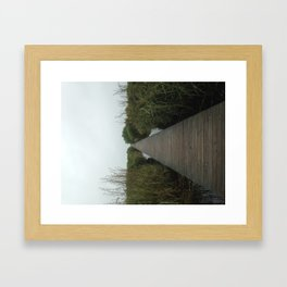 Walking the Boardwalk Framed Art Print
