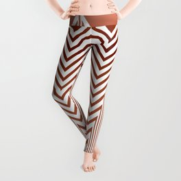Art Deco Geometric Arrowhead Dusty Peach Design Leggings