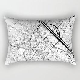 Vienna City Map of Austria - Black Circle Rectangular Pillow