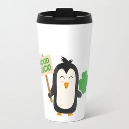 Good Luck Penguin Travel Mug