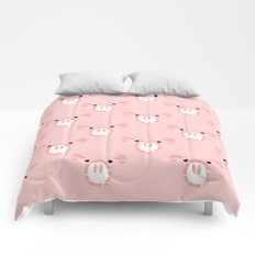 Cute Pink Pig face Comforters