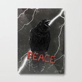Crow For Peace Metal Print