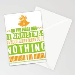Christmas Single Alone Alone Funny Gift Stationery Cards