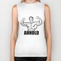 arnold Biker Tanks featuring Arnold Schwarzenegger  |  AHNOLD by Silvio Ledbetter